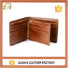 brown tanned natural leather hipster wallets for men