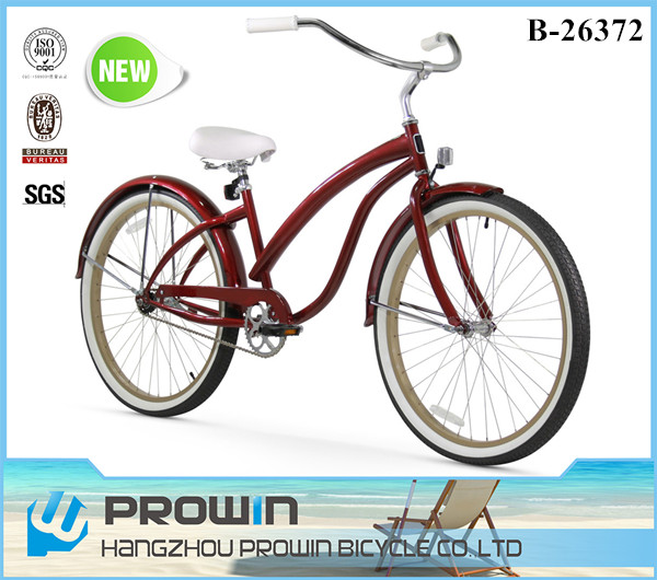 "import from China 26"" single sp beach crusier/adult chopper bicycle beach cruiser bike/cruiser beach bike 26 (PW-B26372)"