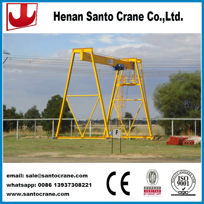 Industrial gantry mobile cranes with electric hoist