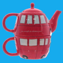 London bus ceramic teapot & cup