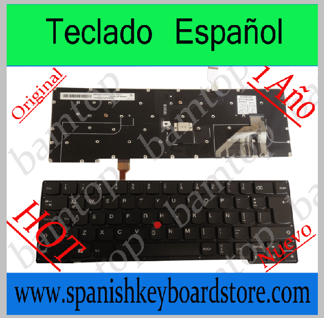 Spanish laptop /notebook keyboard For Lenovo Thinkpad NEW X1 Carbon backlit