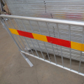 Galvanized Removable Flat Fence Feet Redestrian Barrier Flat feet Crowd Control Barrier