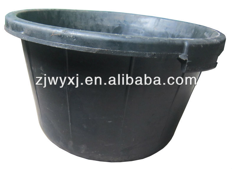 recycled rubber buckets,large rubber container for building,Rubber trough
