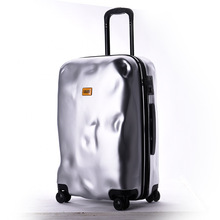 suitcase factory customized spinner wheels high end vintage style luggage 20 24 26inch ABS+PC suitcase Duffel bag