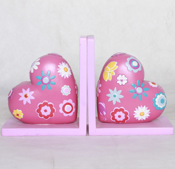 Design children Resin Heart Shape decorative Bookends