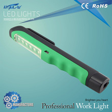 0226B battery led work lamp led clip pen light with lighting