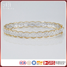 China Factory Wholesale Lastest Design Pure Gold Diamond Bangles Band Images