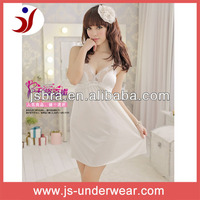 Young ladies polyester chiffon stylish sheer sexy sleeping dress for girls transparent sexy underwear