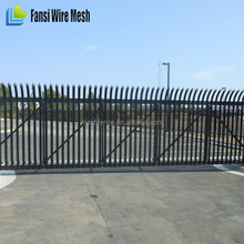 Hot dip galvanised w-section 1.8m high double leaf steel palisade gate