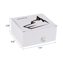 corrugated folding white cardboard square cake box