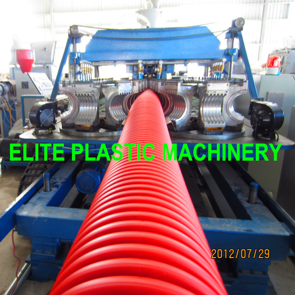 PE/PP Plastic Single Layer Corrugated Piping Line EDB-200