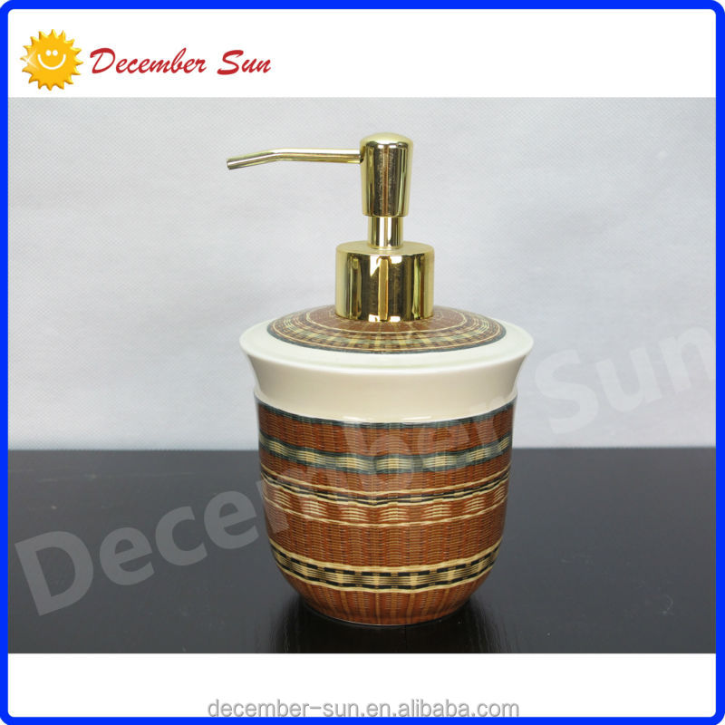 unique ceramic hotel soap liquid dispenser bottle