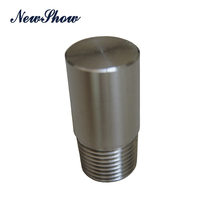 NPT high pressure pipe fittings 304 stainless steel threaded round plug