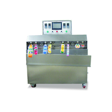 factory supply 8 <strong>nozzle</strong> plastic packaging bags juice /milk /liquid filling packaging machine