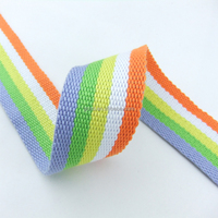 Rainbow Colorful Waistband Cotton & Polyester Fabric OEM Grosgrain Ribbon Decorative Band for Garments Wholesales