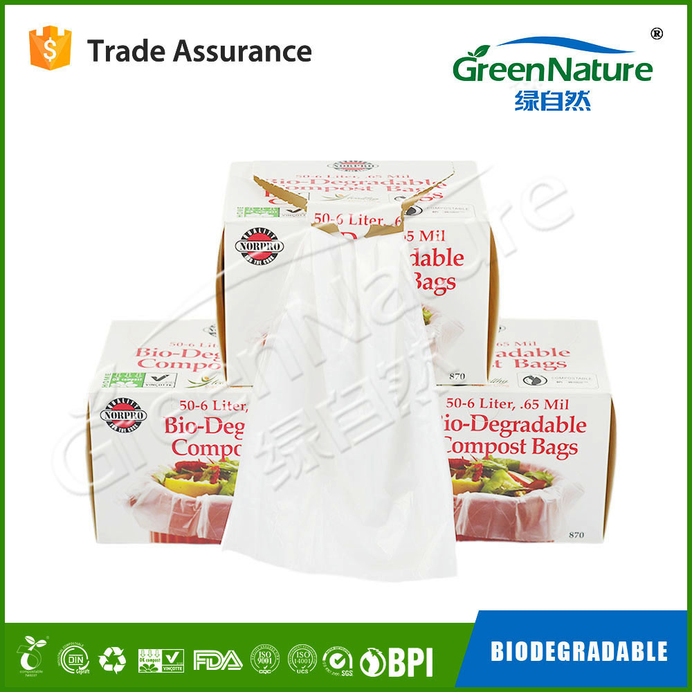 hot sale & high quality fully biodegradable corn based plastic bags with long life