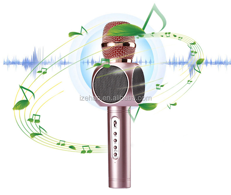 Wireless bluetooth Microphone with Mic Speaker Condenser Mini Karaoke Player KTV Singing Record for mobile phone