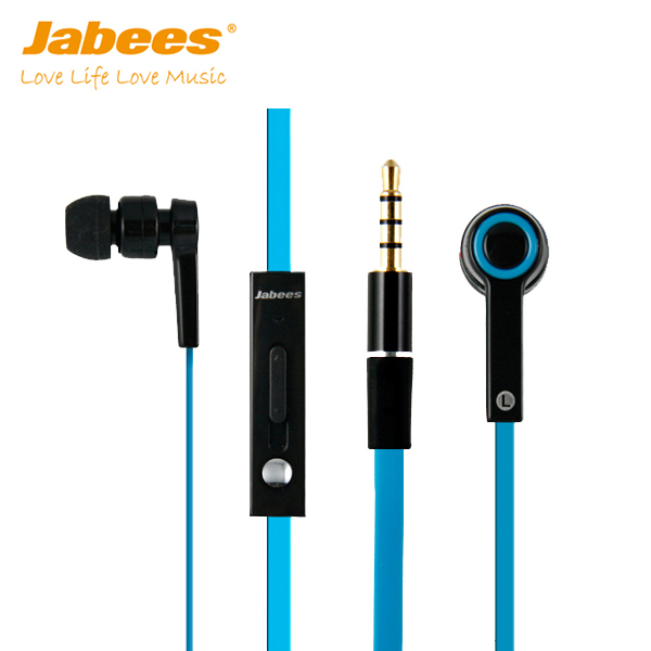 Newest Fashion High Quality Flat Cable Clear Audio Stereo in Ear Wired Earphone with Mic