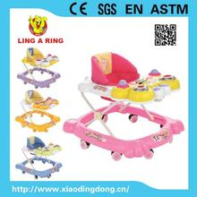 8 wheels music&toy portable baby walker/model:T-12 with CE safety good price new baby walker/multiple colors walker for baby