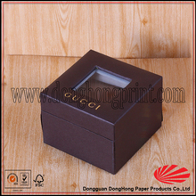 100% Donghong produce wholesale watch boxes with clear windows