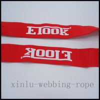 High tenacity polyester webbing /fabric belt strap with custom logo/jacquard