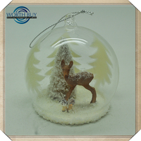 Cheap Wholesale Clear Frosted Glass Ball Christmas Ornament