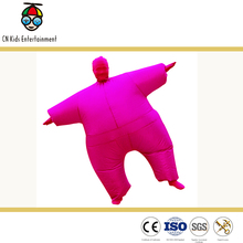Rose red polyester inflatable costumes for festival fun parties