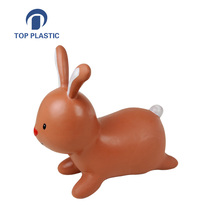 inflatable rubber kids hopper jumping animal toy