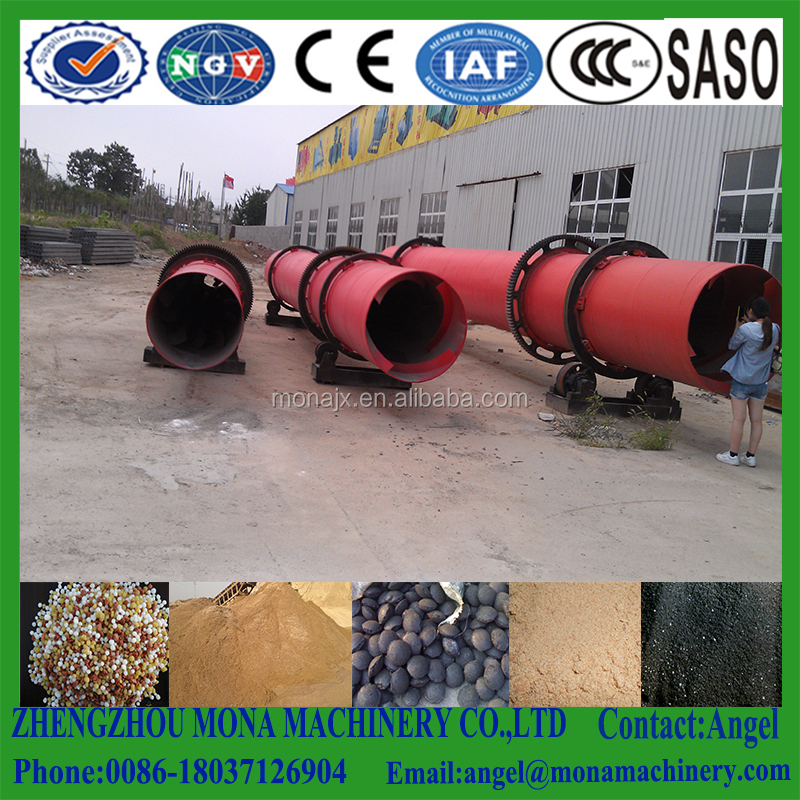 Agricultural bio organic compound fertilizer cow dung rotary drum dryer equipment/flash drying large drier for furnace slag