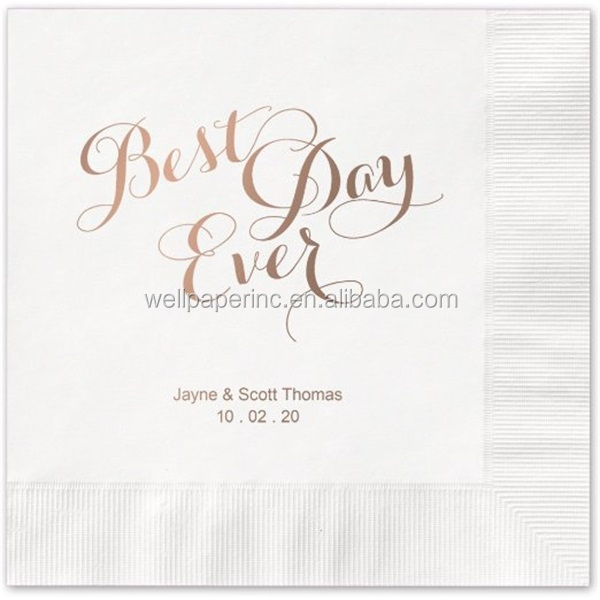 Personalized Wedding Cocktail Napkins, set of 100