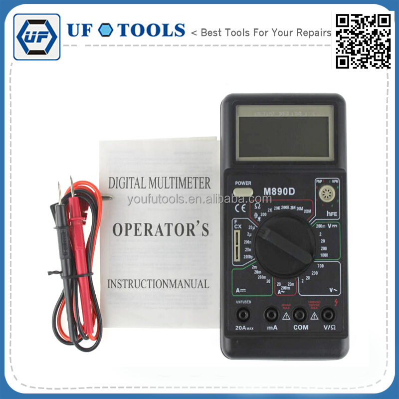 New M890D LCD Digital Multimeter Avometer Voltmeter Ammeter Electric Tester DMM