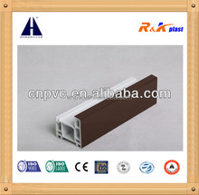 Various colors Wooden Laminated 60 Casement Series Upvc Profiles for windows and doors