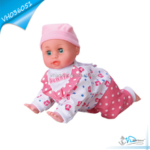 Battery Operated Crawling Singing Doll Baby
