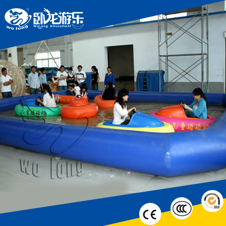 2017 good customized inflatable water park kids electric bumper boat for sale