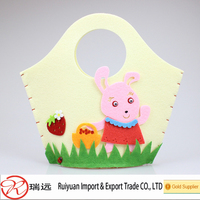 2015 Cute rabbit and owl design Easter felt bag for promotional bags