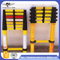 Home use excellent electrical insulating property nonmagnetic fiberglass cheap extension ladders