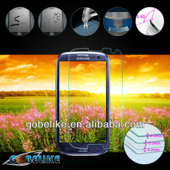 tempered glass manufacturer 0.2mm screen protector for Samsung Galaxy S3 i9300
