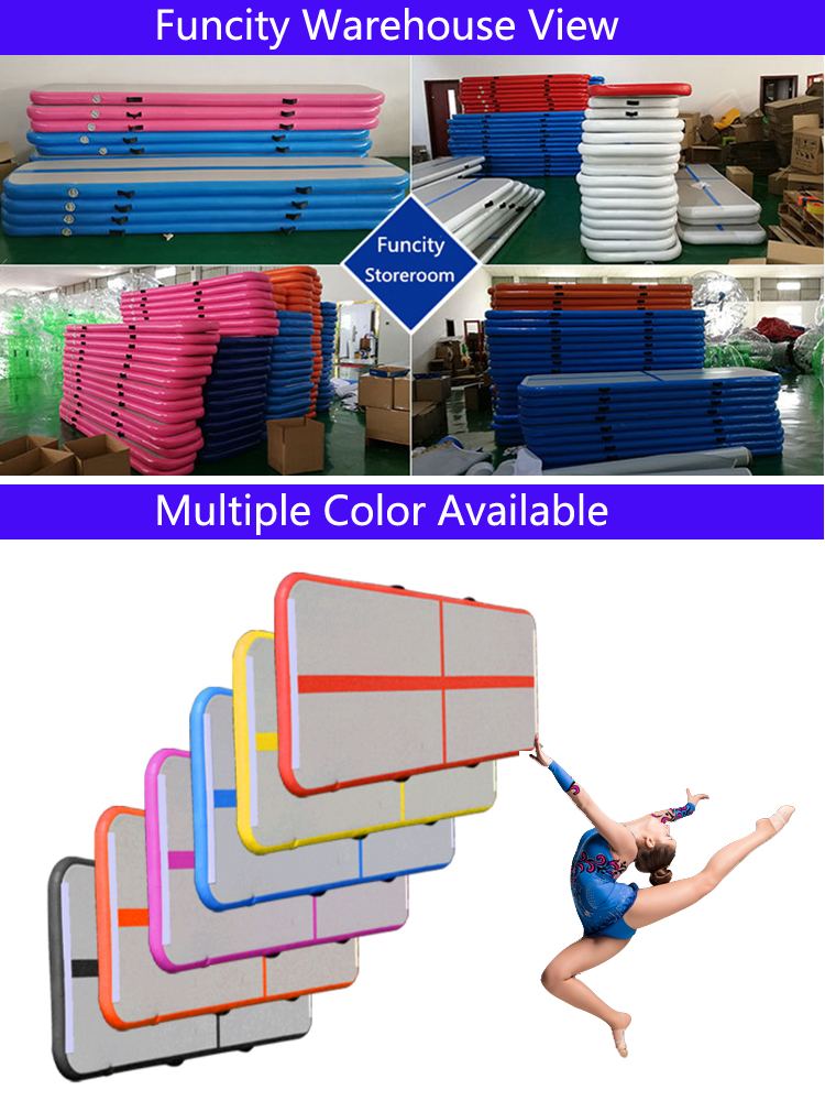 3m 5m 6m 10m 12m 15m  Inflatable Gymnastic Mat , Inflatable  Air Track for Gymnastic Sports Use