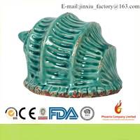 10834 Ceramic Conch Seashell Sculpture With