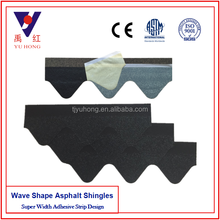 cheap black wave shape roofing asphalt Shingles