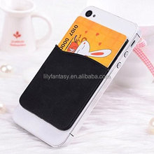 Best Quality Promotional silicone smart card phone holder wallet 3M sticky for Iphone 6 /plus