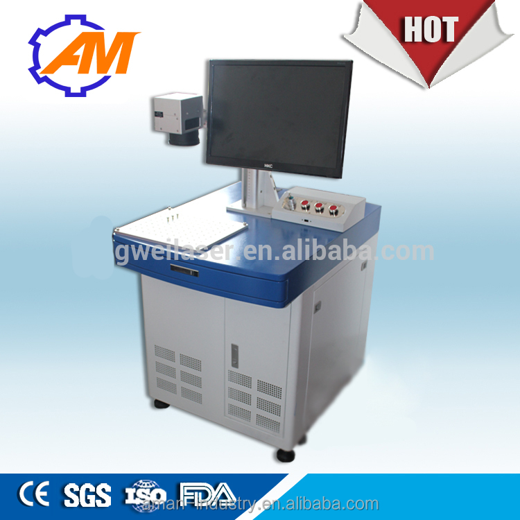 New technology 100W Fiber laser deep marking machine for metal engraving