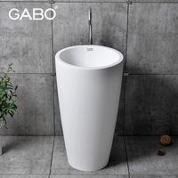 Made in China hot sale small size basin with mini pedestal