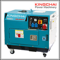 KINGCHAI Power Machinery 2Kw 3Kw 5Kw 7Kw 10Kw Air-Cooled Silent Diesel Generators for Home use