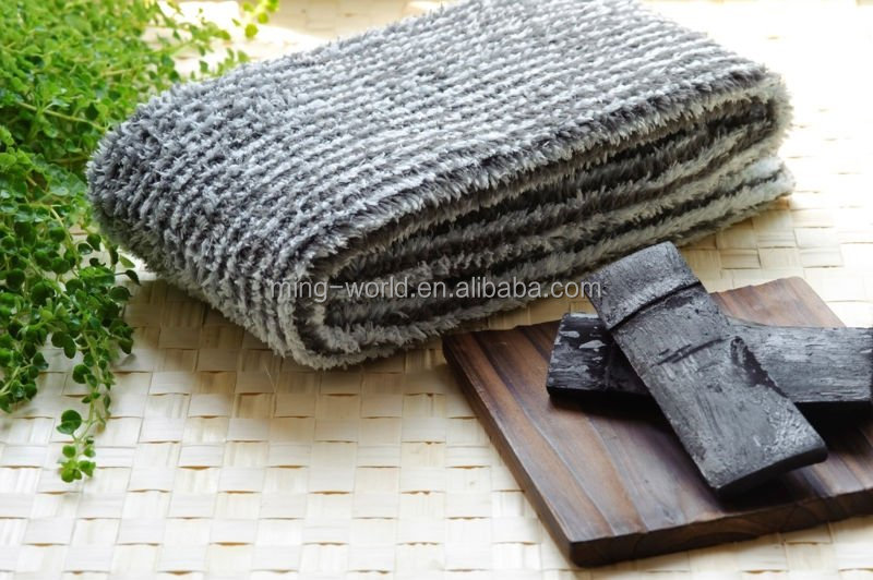 Natural Anti-Bacterial Bamboo Charcoal Face Towel