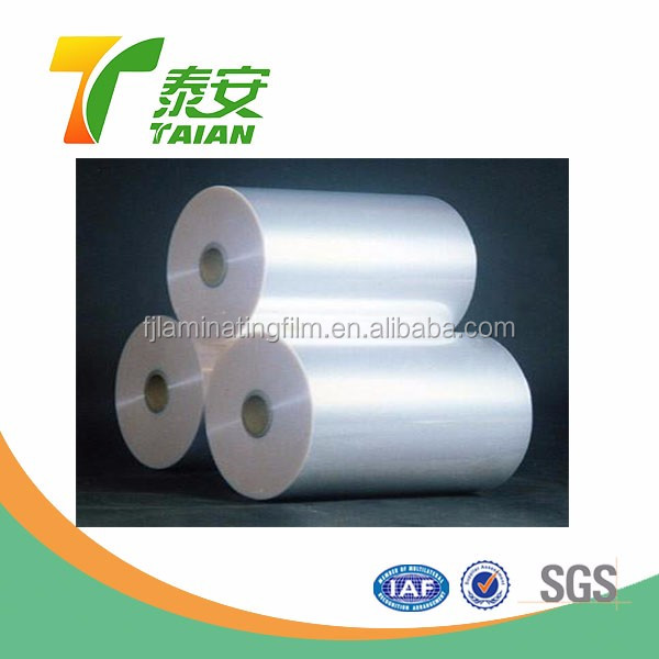 Transparent Thermal Laminating Film / Biaxially Oriented Polypropylene Hot Film for Lamination