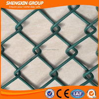 PVC coated 9 gauge used chain link fence for sale