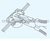 connector surface socket quick connect passed SAA/NZS 413QC apply to 1.0-2.5 mm2 cable Gold supplier NADWAY product