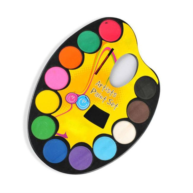 12 colors water color cake set/ paint set for kid