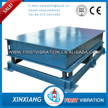 3D concrete vibrating table for concrete molds